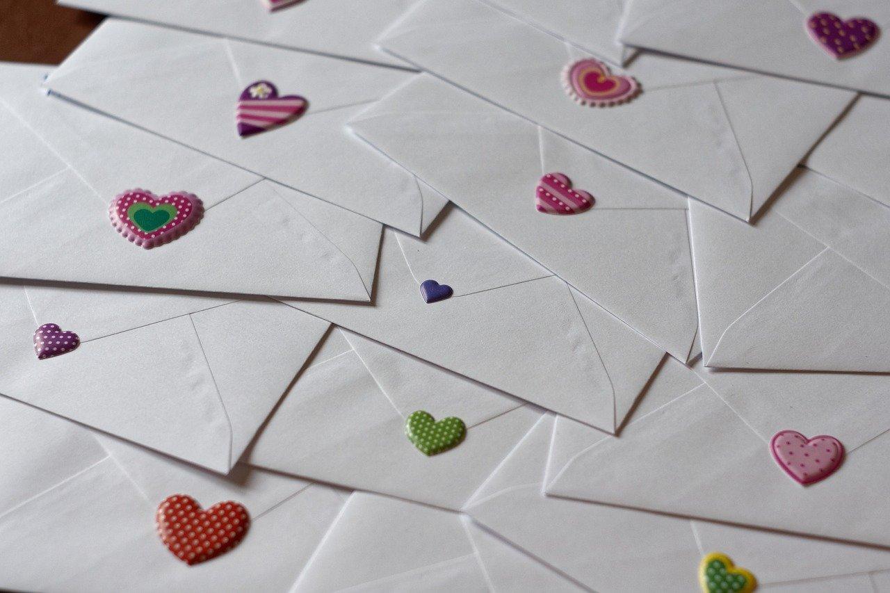 Obálky na milostné dopisy.